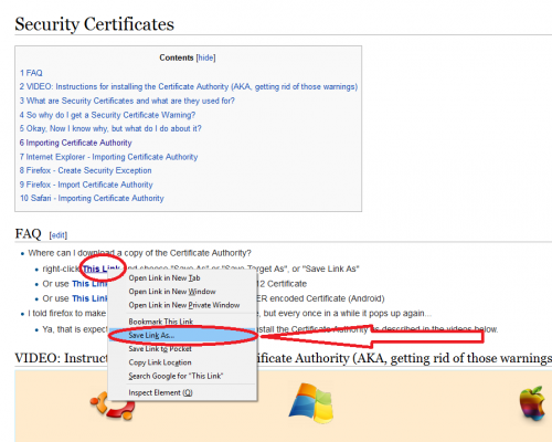 How to import Certificate Authority in Windows 10 - help
